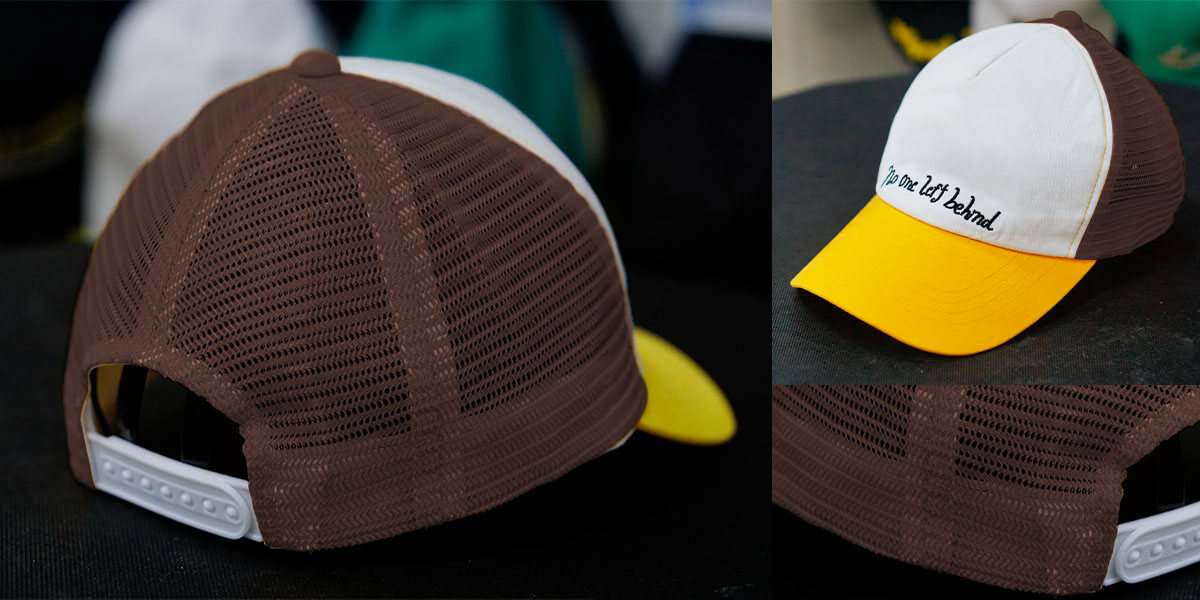 หมวกแก๊ปตาข่ายสีน้ำตาล