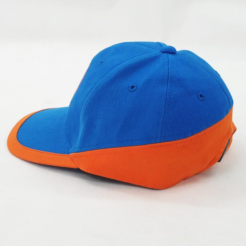 หมวกแก๊ปสีฟ้า ส้ม
