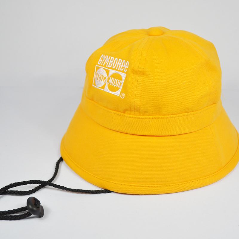 หมวกปีกรอบเด็กสีเหลือง