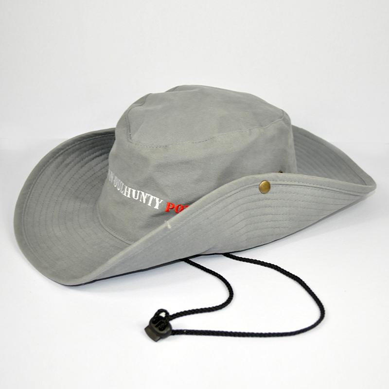 หมวกซาฟารีสีเทา