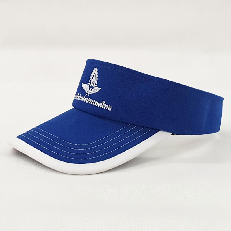 หมวกไวเซอร์สีน้ำเงิน กุ้นปีกหมวก