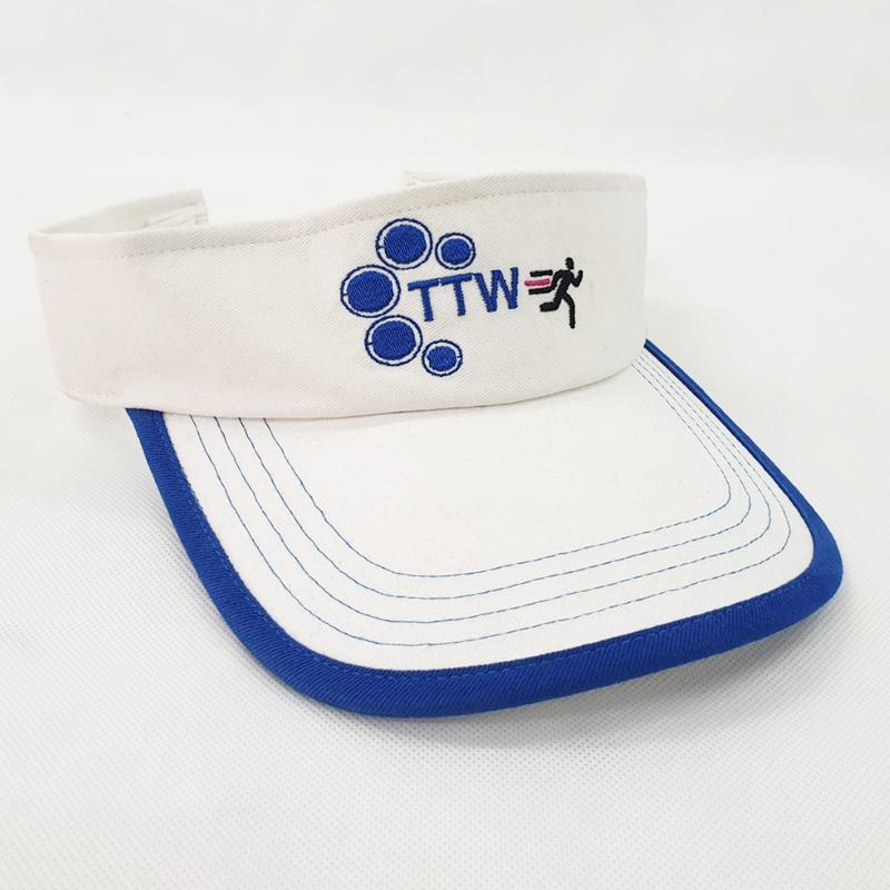 หมวกไวเซอร์สีขาว กุ้นปีกหมวก